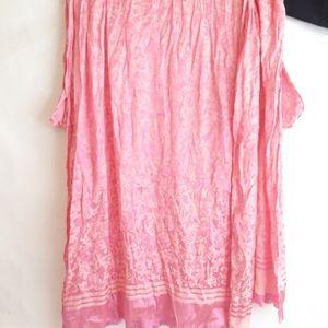 3/$20 Pink metallic scarf